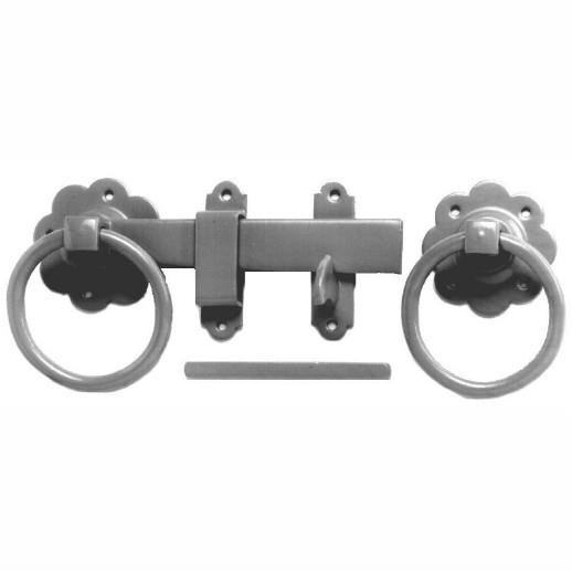 "1136 Ring Gate Latch; 180mm (7""); Epoxy Black (EXB)(BK)"