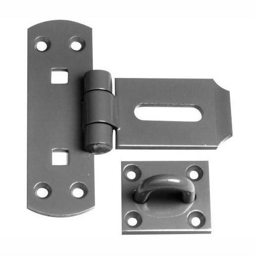 "HS146 Heavy Pattern Vertical Hasp And Staple; Epoxy Black (EXB)(BK); 150mm (6"")"
