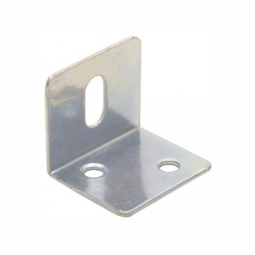 316 Angle Bracket; Slotted; Zinc Plated (ZP); 25mm x 25mm x 28mm x 1.2mm