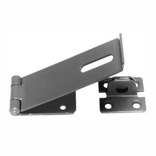 "617 Safety Hasp And Staple; Epoxy Black (EXB)(BK); 75mm (3"")"