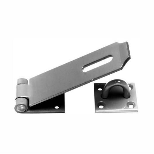 "618 Heavy Hasp And Staple; Epoxy Black (EXB)(BK); 175mm (7"")"