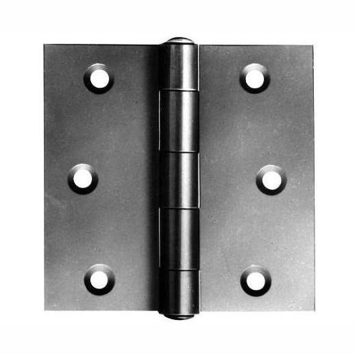 "808 Broad Steel Butts; Strong Pattern; Bright Zinc Plated (BZP); 100mm (4"")"