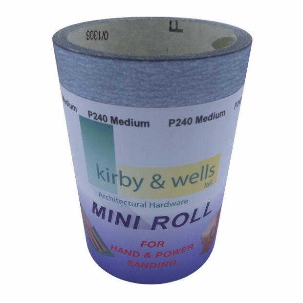 Grey (GR) Silicone Carbide Paper; 115mm Wide; 240 Grit; Roll (5 Metre)