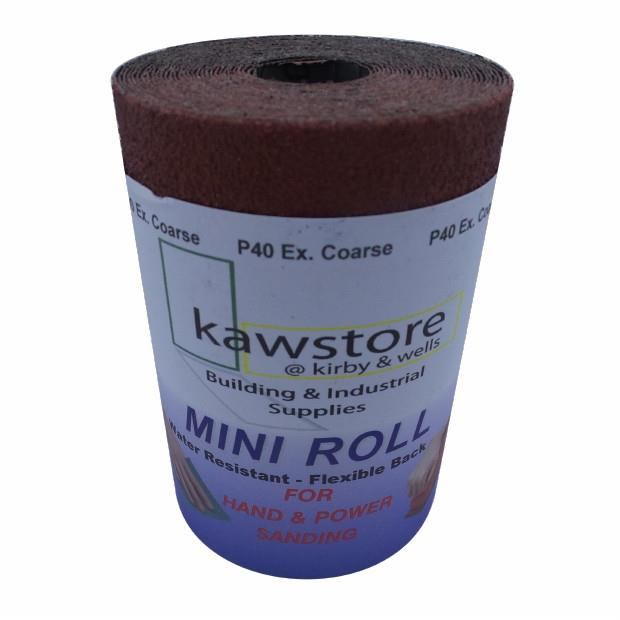 Flexi Back Red (RD) Aluminium Oxide Paper; 115mm Wide; 40 Grit; Roll (5 Metre)