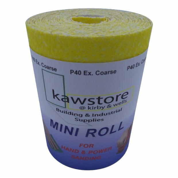 Yellow (YEL) Aluminium Oxide Paper; 115mm Wide; 80 Grit; Roll (5 Metre)