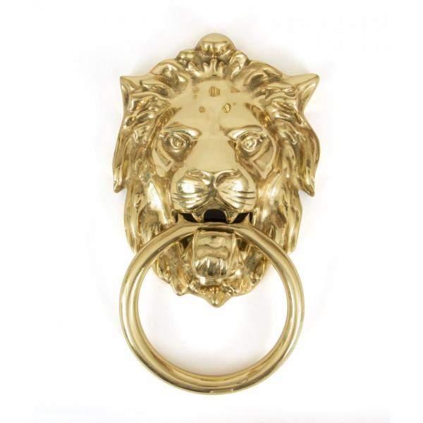 From The Anvil 33020 Lion's Head Door Knocker; Polished Brass (PB)