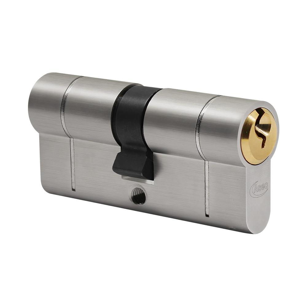 Asec VT10019 Euro Profile Double Cylinder; 40 x 50mm (35/10/45); Snap Resistant; 6 Pin; 3 Keys; Dual Finish; Nickel Plated / Polished Brass (NP) (PB)