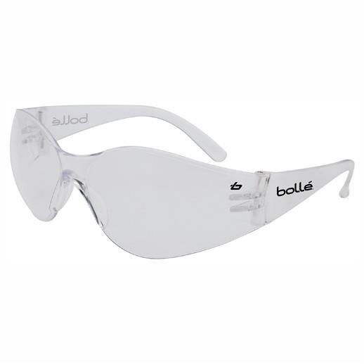 Bolle Bandido Safety Glasses; Clear Lens; Anti-fog and anti-scratch; EN Standards: EN171-UV 3-1.2/EN1661FT