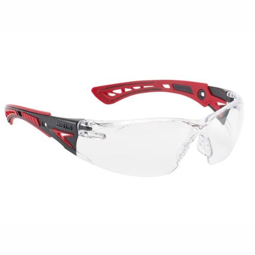 Bolle Rush+ Platinum Safety Glasses; Clear Lens; EN Standards: EN166/170/172 1FT KN