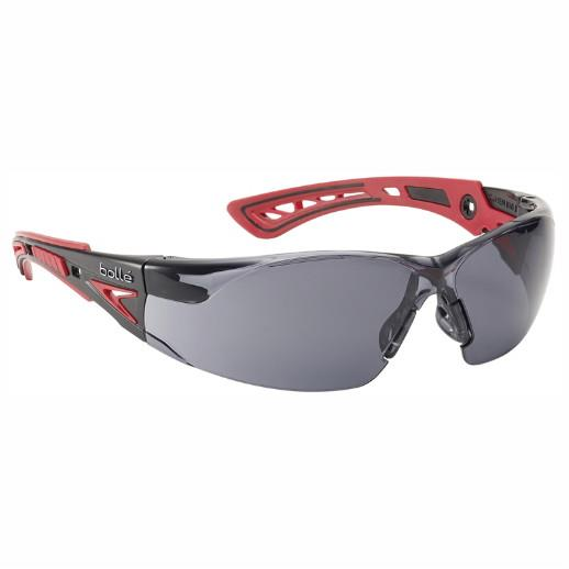 Bolle Rush+ Platinum Safety Glasses; Smoke Lens; EN Standards: EN166/170/172 1FT KN