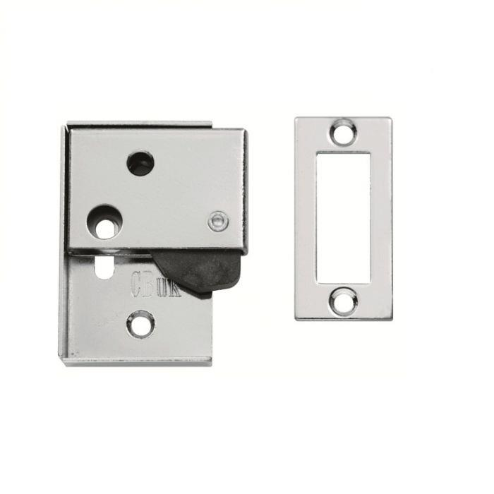 Carlisle AA46 Easi-Keep Hush Latch; 63 x 48mm; Polished Chrome Plated (CP)