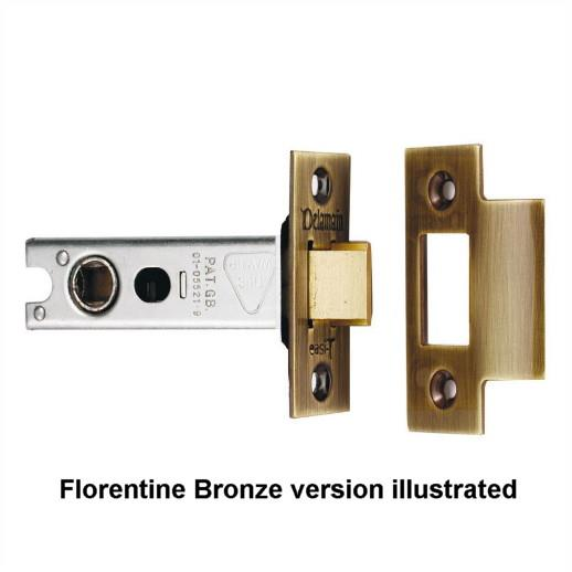 "Carlisle Brass Delamain DL5025FB Heavy Sprung Tubular Mortice Latch; 64mm (2 1/2""); 45mm (1 3/4"") Backset; 8mm Follower; Florentine Bronze (FB)"
