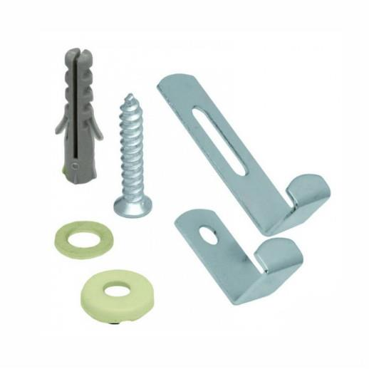 Mirror Fixing Set; Nickel Plated (NP); 4 Part Set