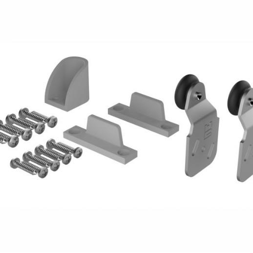 Coburn 1TD Single Door Component Pack; For Double 60; Double 60X & Twin 60 Wardrobe Door Gear; Includes 2 Nylon Guides; 2 Hangers And 1 Stop