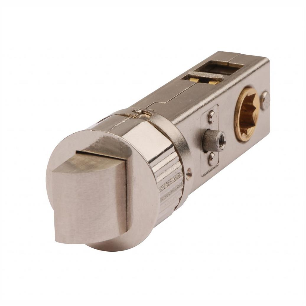 "Smartlatch 2281 Tubular Privacy Latch; 57mm (2 1/2"") Backset; 70mm; Satin Nickel Plated (SNP)"