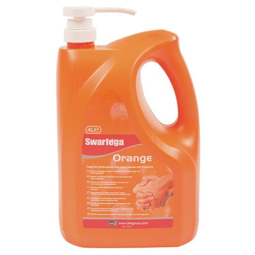 Swarfega Orange Hand Cleaner Pump Top Bottle; 4 Litre