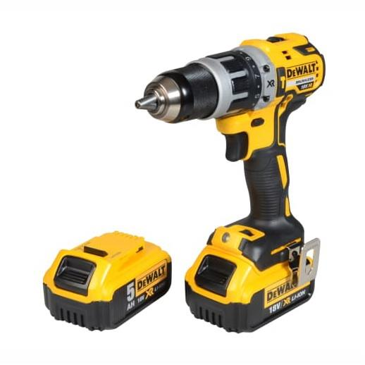 Dewalt DCD796PM XR Brushless Hammer Drill; 18 Volt; 2 Li Ion Batteries (1 x 4.0 Ah & 1 5.0 Ah); Charger & Case