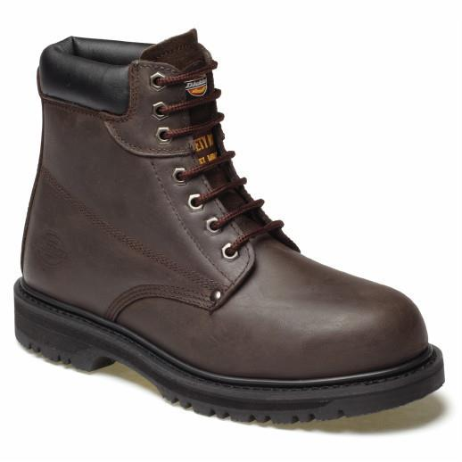 Dickies FA23200 Cleveland Safety Boots; EN ISO 20345; Dark Brown (DBN); Size 10 (44)