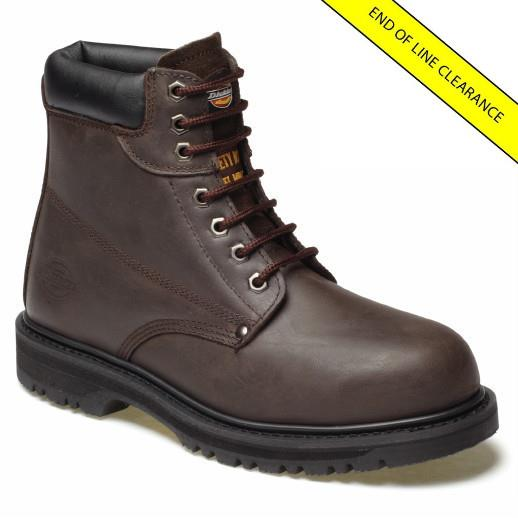 Dickies FA23200 Cleveland Safety Boots; EN ISO 20345; Dark Brown (DBN); Size 12 (47)