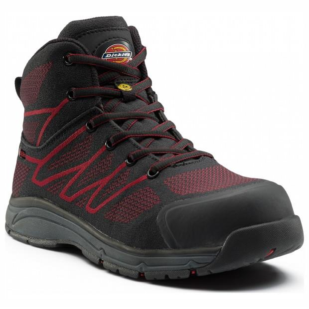 Dickies FC9530 Liberty Safety Boot; Black/Red (BK) (RD); Size 6 (39)