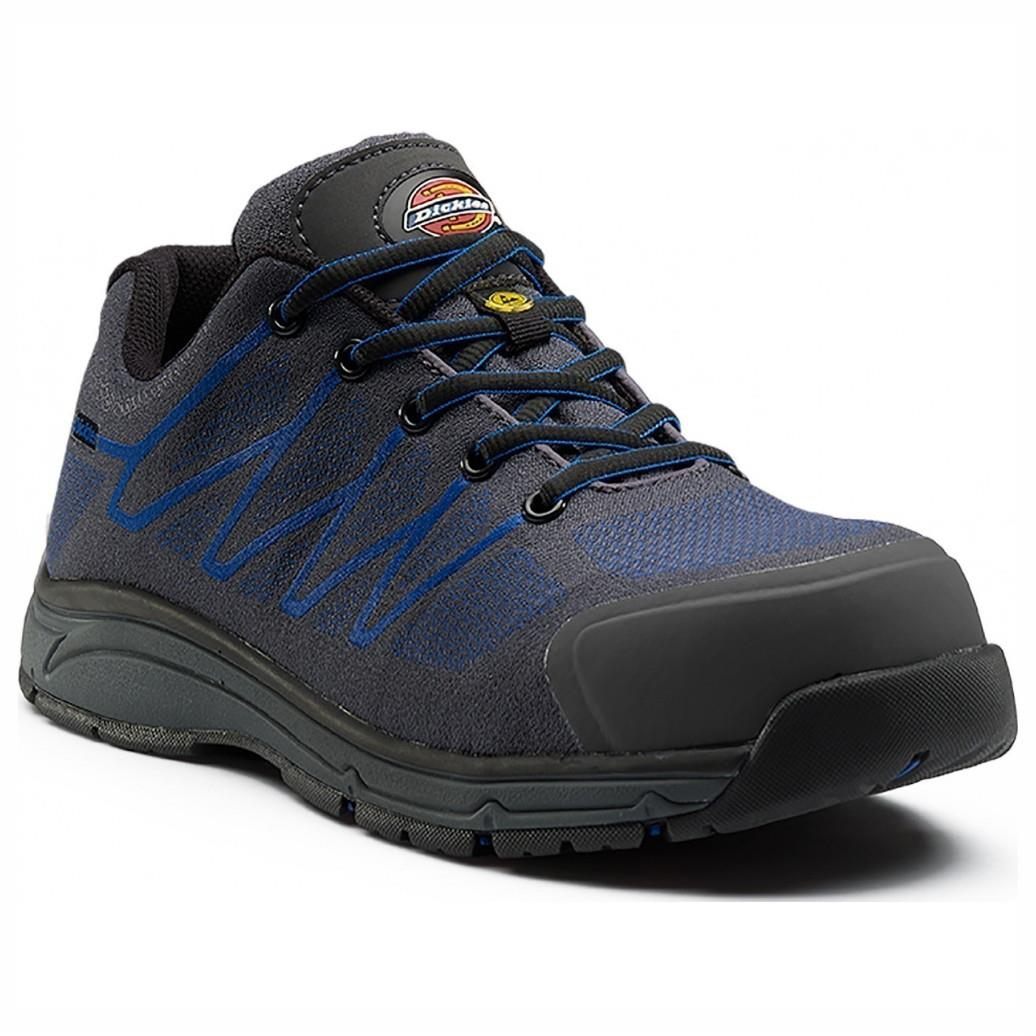 Dickies FC9531 Liberty Safety Shoe; Grey/Blue (GR) (BL); Size 6 (39)
