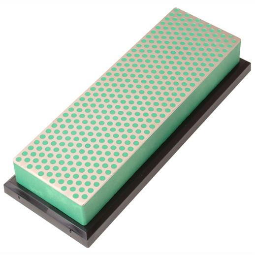 "DMT W6EP Diamond Whetstone; 150mm (6""); Plastic Case; Green (GN); 1200 Grit; Extra Fine"
