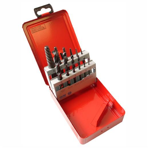 Dormer M101 Screw Extractor Set; Sizes 1 - 6; Complete With Drill Bits