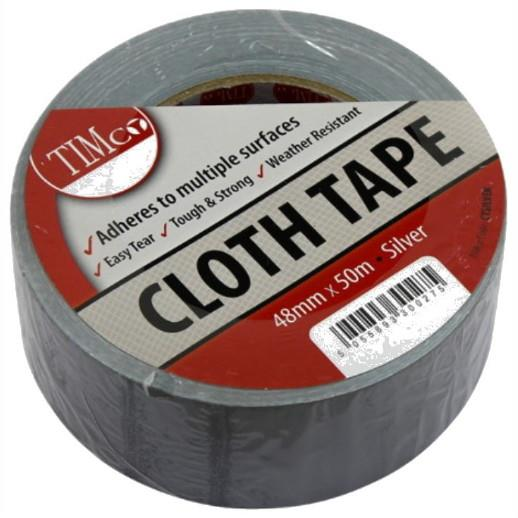 Timco All Purpose Cloth Duct Tape; Grey (GR); 50mm x 50m