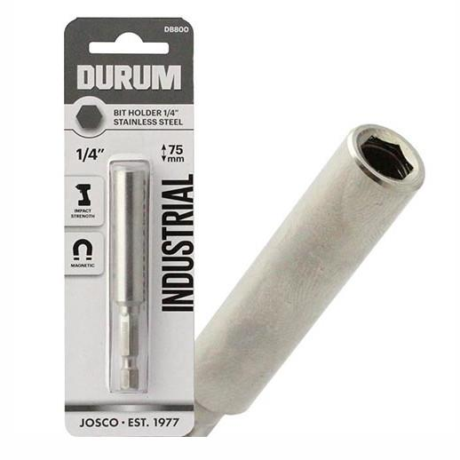 "Durum DB800 Industrial Magnetic Impact Screwdriver Bit Holder With Circlip; 1/4"" Hex; 75mm (3"")"