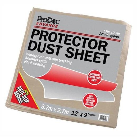 Craftsman Protector Dust Sheet; Polythene Backed Twill; 12' x 9' (3.6 x 2.7m)