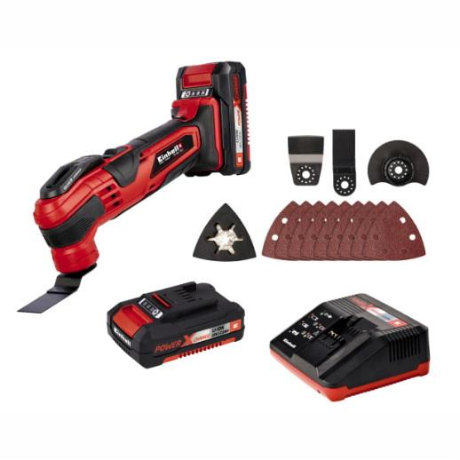 Einhell TE-MG 18 Li Kit Cordless Multi-Tool; 18 Volt; 1 x 2.0Ah Li-Ion Batteries; 44.651.61