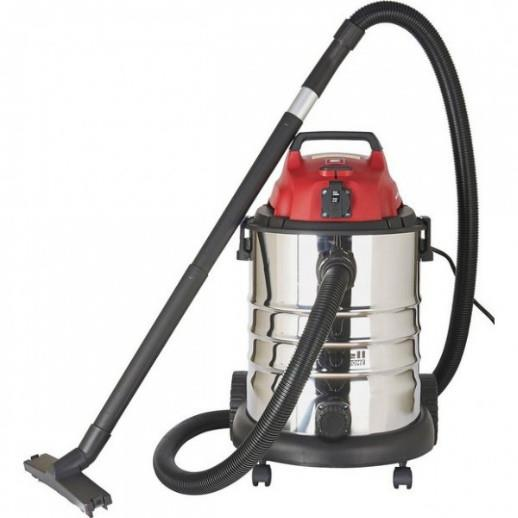 Einhell TEVC1930 SA 30 Litre Wet And Dry Vacuum; 1500 Watt; 240 Volt; Complete With Power Take Off; 23.421.95