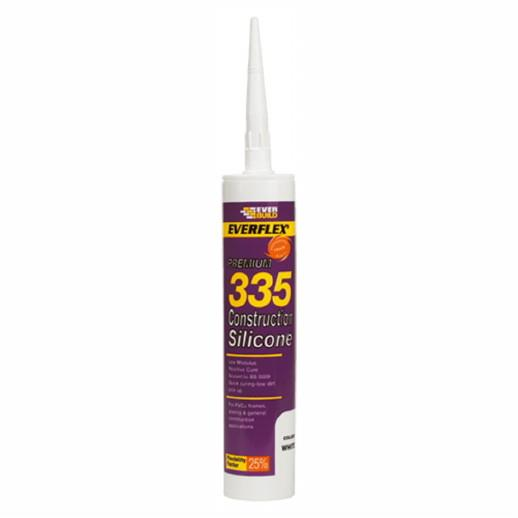 Everbuild 335 Construction Silicone; 295ml (C3); Low Modulus; White (WH)