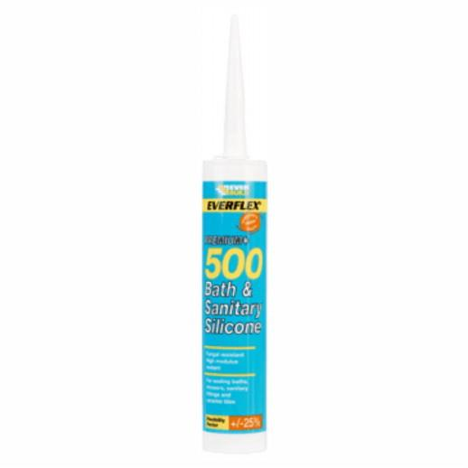 Everbuild Bath & Sanitary Sealant; High Modulus; White (WH); C3