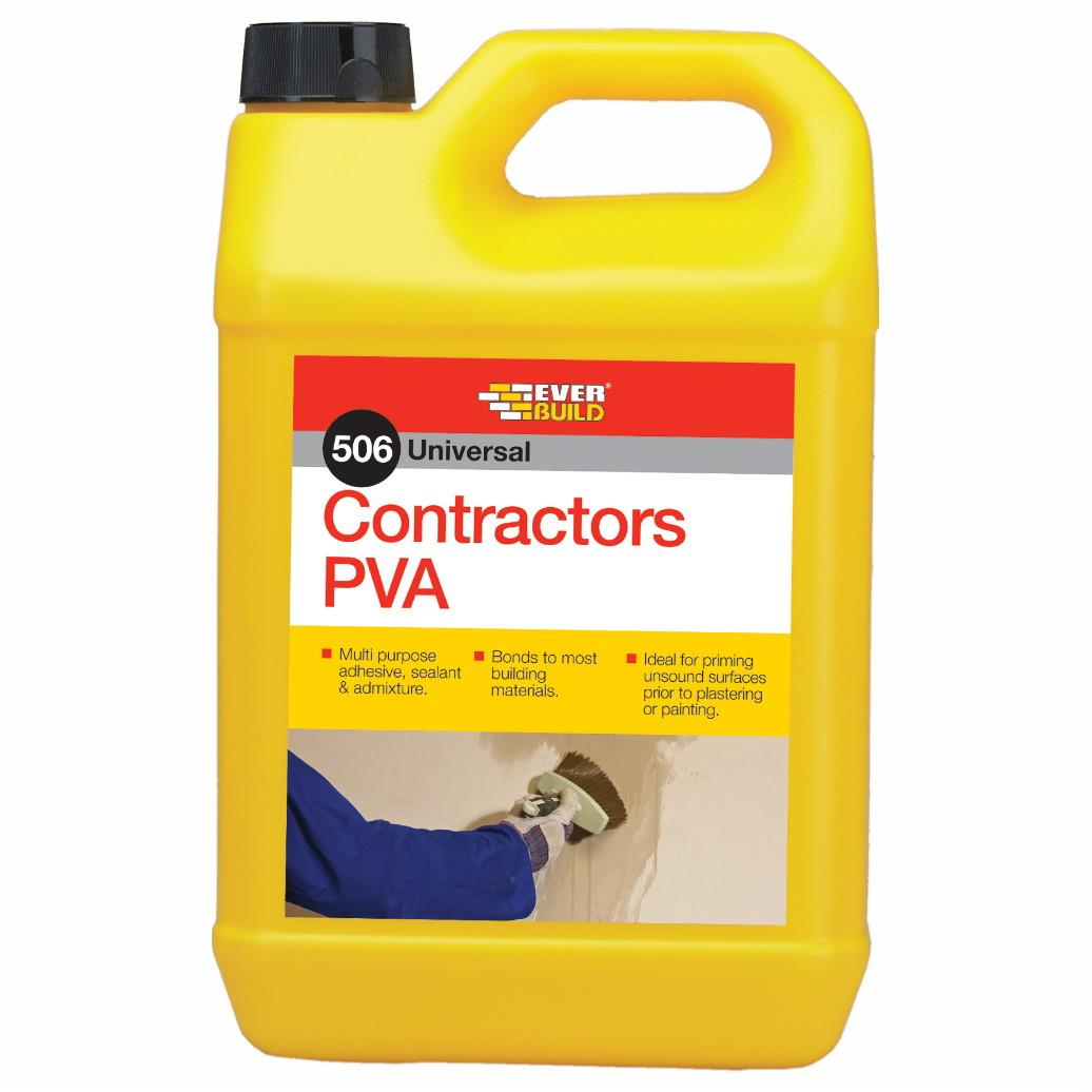Everbuild 506 Contractors PVA; 5 Litre