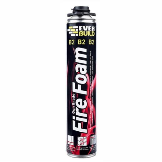 Everbuild Firefoam; Class B2; 750 ml; Gun Grade; Fire Resistant Up To 2 Hours; (Trade Product)