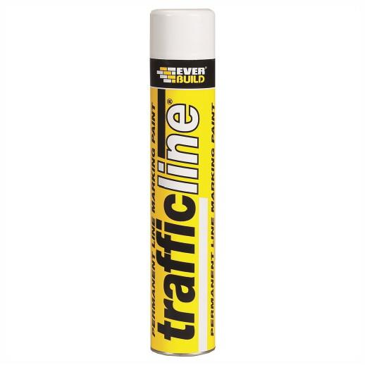 Everbuild Trafficline Marker Spray; White (WH); 700ml