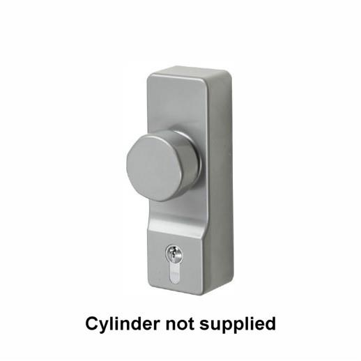 Exidor 302EA Outside Access Euro Cylinder Device Unit; NO CYLINDER; Silver (SIL)