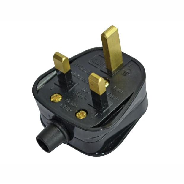 Faithfull FPPPLUG13R Plug Top; 13 Amp; Fused; BS1363/A; Black (BK)