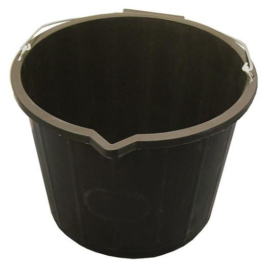 Faithfull FAI3GBUCKET Builders Bucket; Black (BK); 14 Litres (3 Gallon)