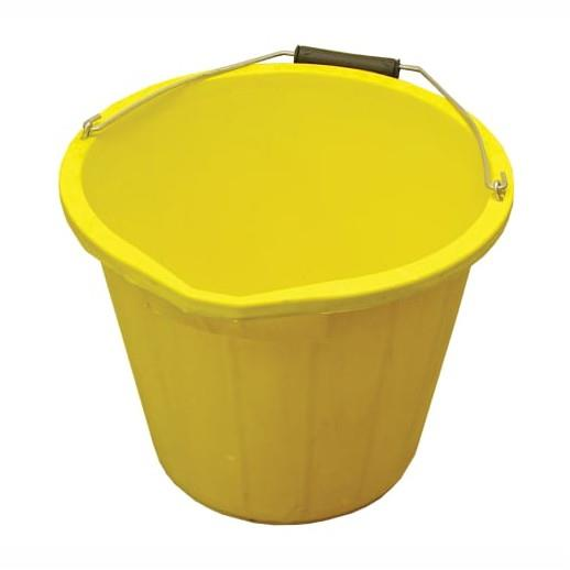 Faithfull FAI3GBUCKYEL Builders Bucket; Yellow (YEL); 15 Litres (3 Gallon)