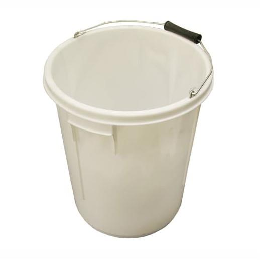 Faithfull 5GBUCKET Heavy Duty; 5 Gallon (25 Litre) Bucket; White (WH); Suitable For Mixing