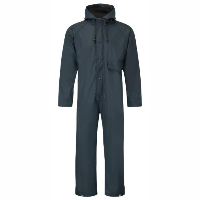 Fortress 320 Flex Coverall; Waterproof Fabric; Welded Seams; Navy (NY); Large (L)