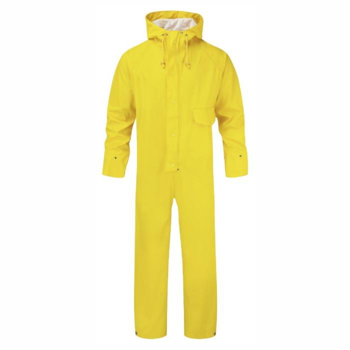 Fortress 320 Flex Coverall; Waterproof Fabric; Welded Seams; Yellow (YEL); Large (L)
