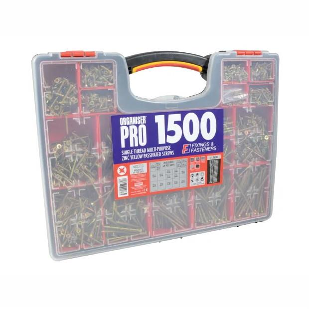 Forgefix OPMPS1500Y Screw Assortment; 1500 Piece