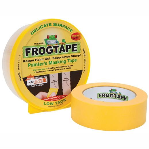 FrogTape Delicate Surface Masking Tape; Low Tack; 36mm x 41.1 Metre