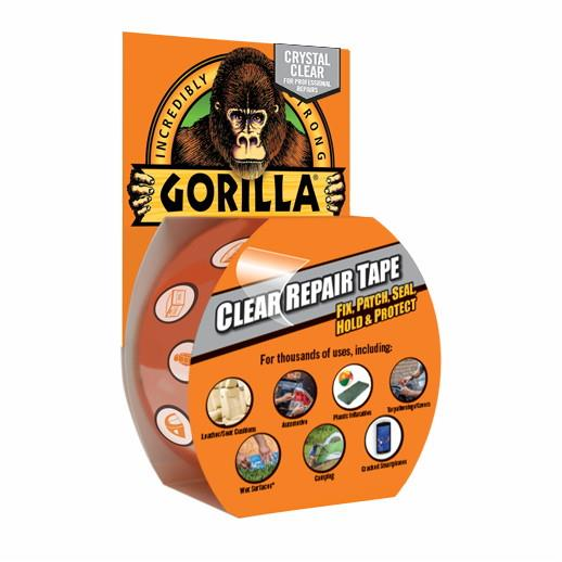 Gorilla Tape; Clear Waterproof Repair Tape; 8.2 Metre