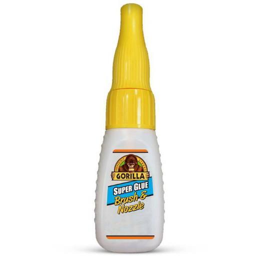 Gorilla Super Glue; Brush And Nozzle; 12gm