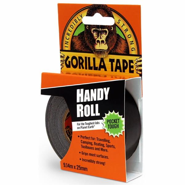 Gorilla Tape; Handy Roll Tape; Black (BK); 9 Metre