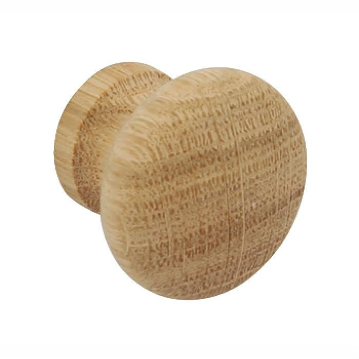 Hafele 195.75.301 Cupboard Knob; 34mm; Unfinished Beech (BEE)